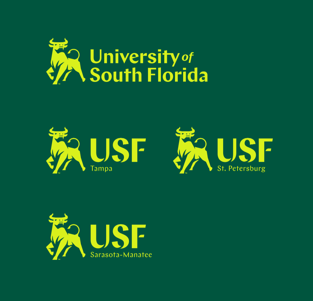 Brand New New Logo And Identity For University Of South Florida By Spark University Of South Florida Identity Logo South Florida