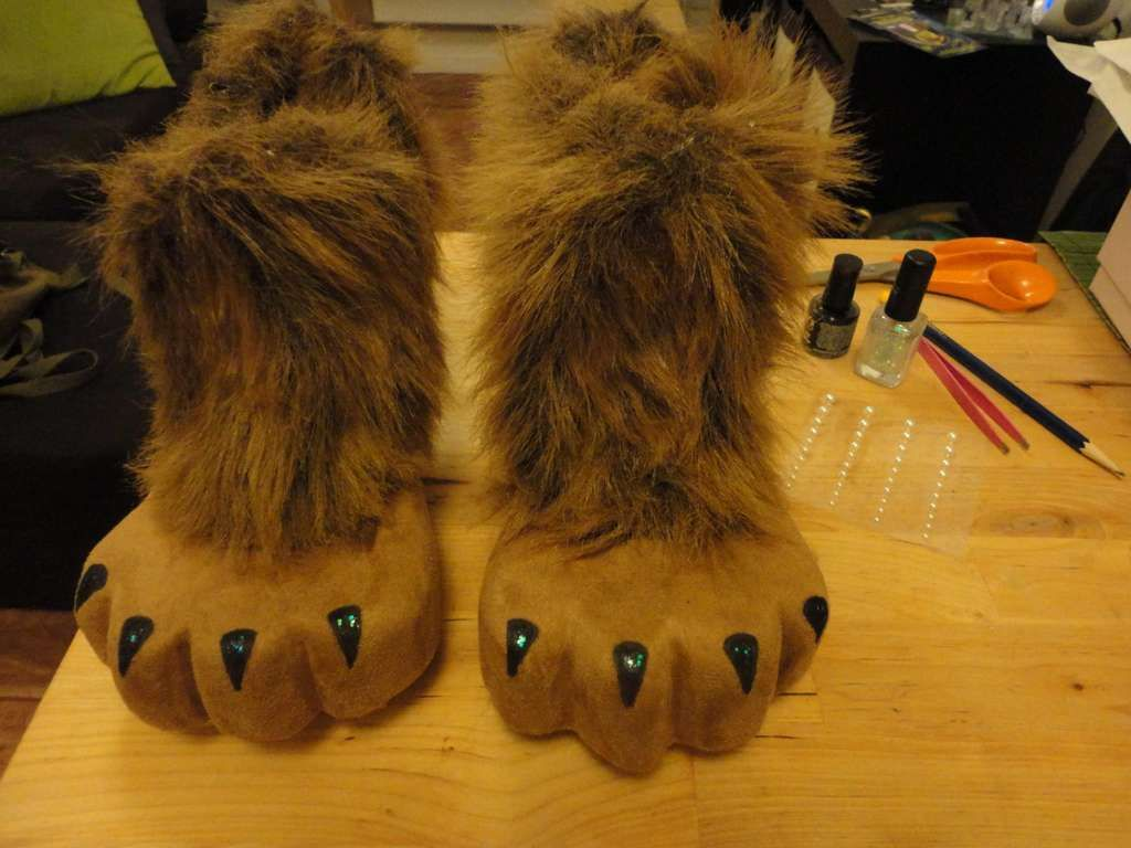 DIY Lion Feet from cheap heels, except I would use boots or shoes