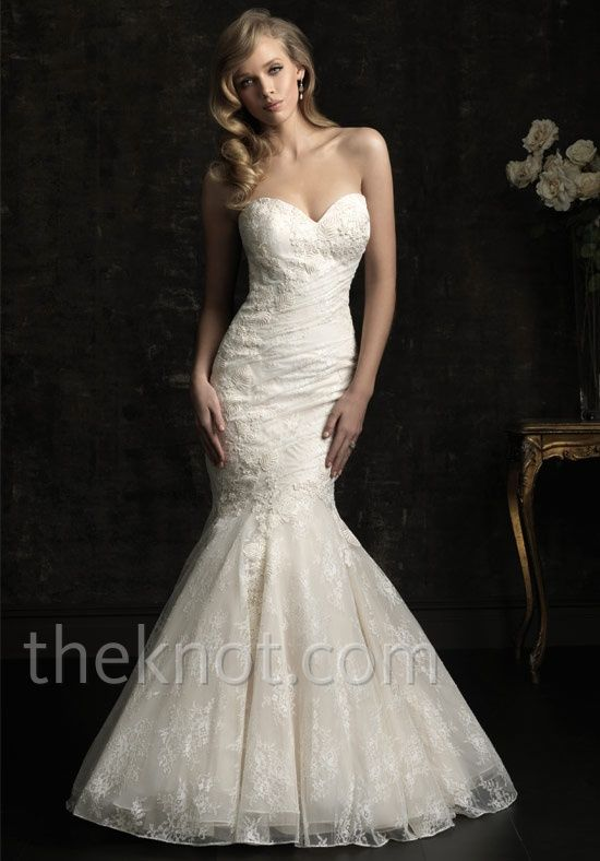 Check out this #weddingdress: 8967 by Allure Bridals via iPhone #TheKnotLB from #TheKnot