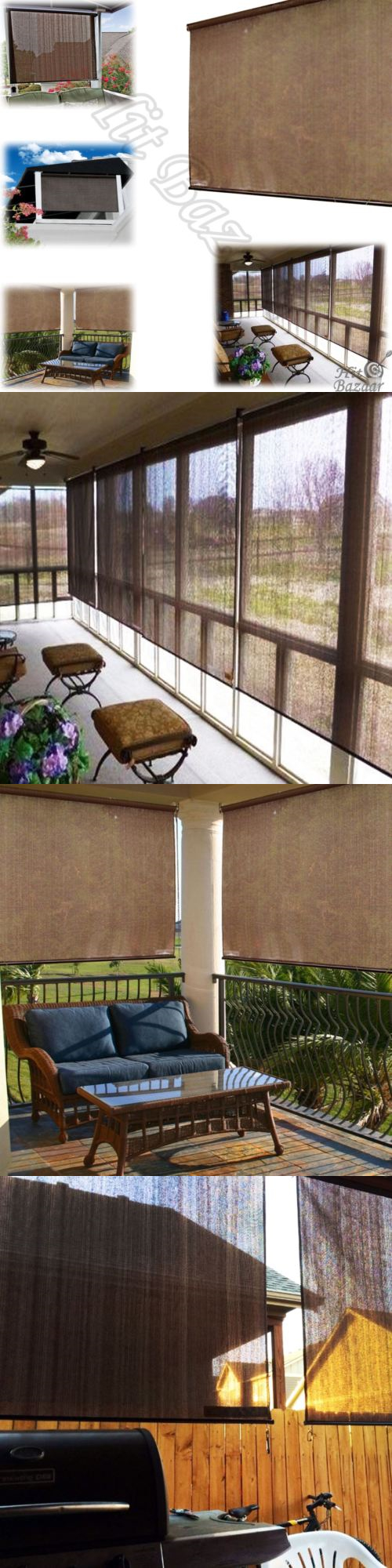 Blinds and shades rollup sun shades outdoor blinds window