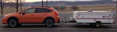 Starling Travel Towing With The Subaru Xv Crosstrek Subaru Subaru Crosstrek Tent Trailer