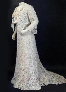1901 Battenberg lace wedding dress - Courtesy of kickshawproductions