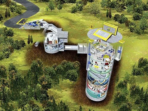 [Former U.S. military missile silo turned into a private residence.  Artist rendering courtesy of 20th century Castles, who provide a list of such properties available for sale.]