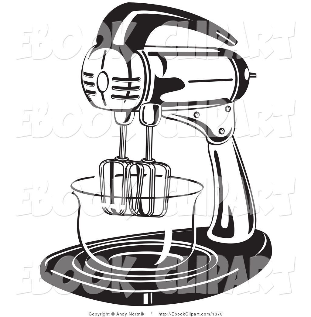 Black And White Kitchen Artwork: Vector Clip Art Of A Black And