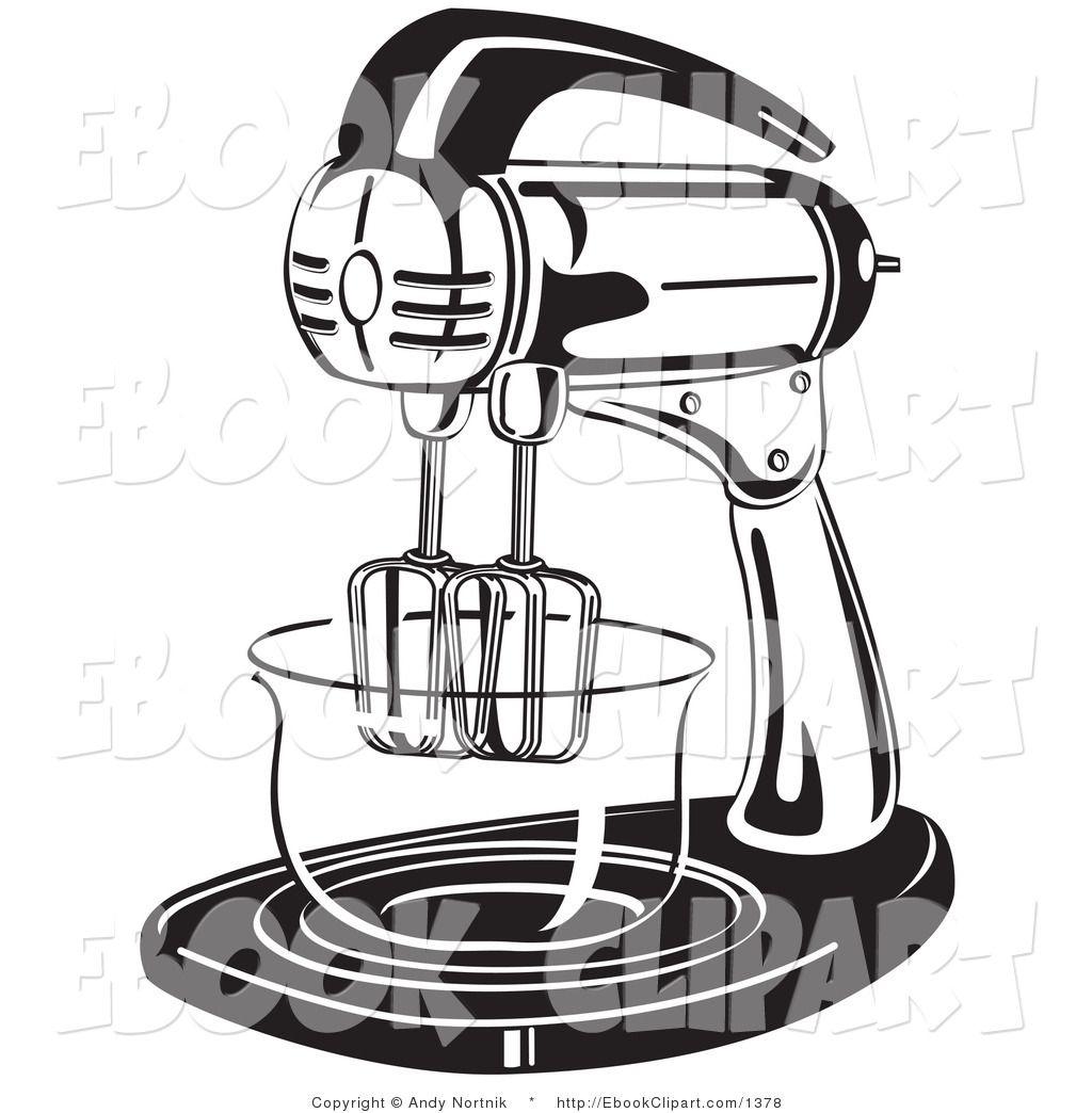 Mixer Clip Art ~ Clip art black and white vector of a