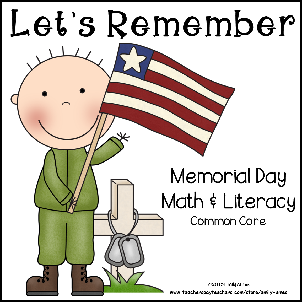 Memorial Day Math Amp Literacy Packet Common Core
