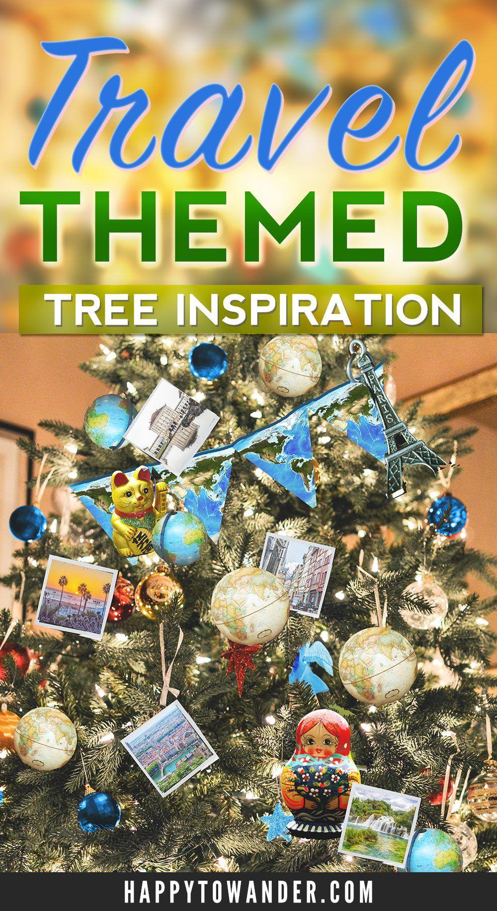 travel christmas tree inspiration  travel ornaments  u0026 diy