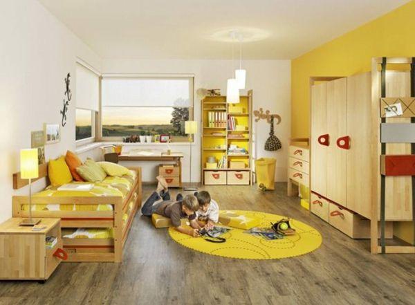 idee kinderzimmer gestaltung doppelbett zwei kinder Kinderzimmer - moderne kinderzimmergestaltung idee