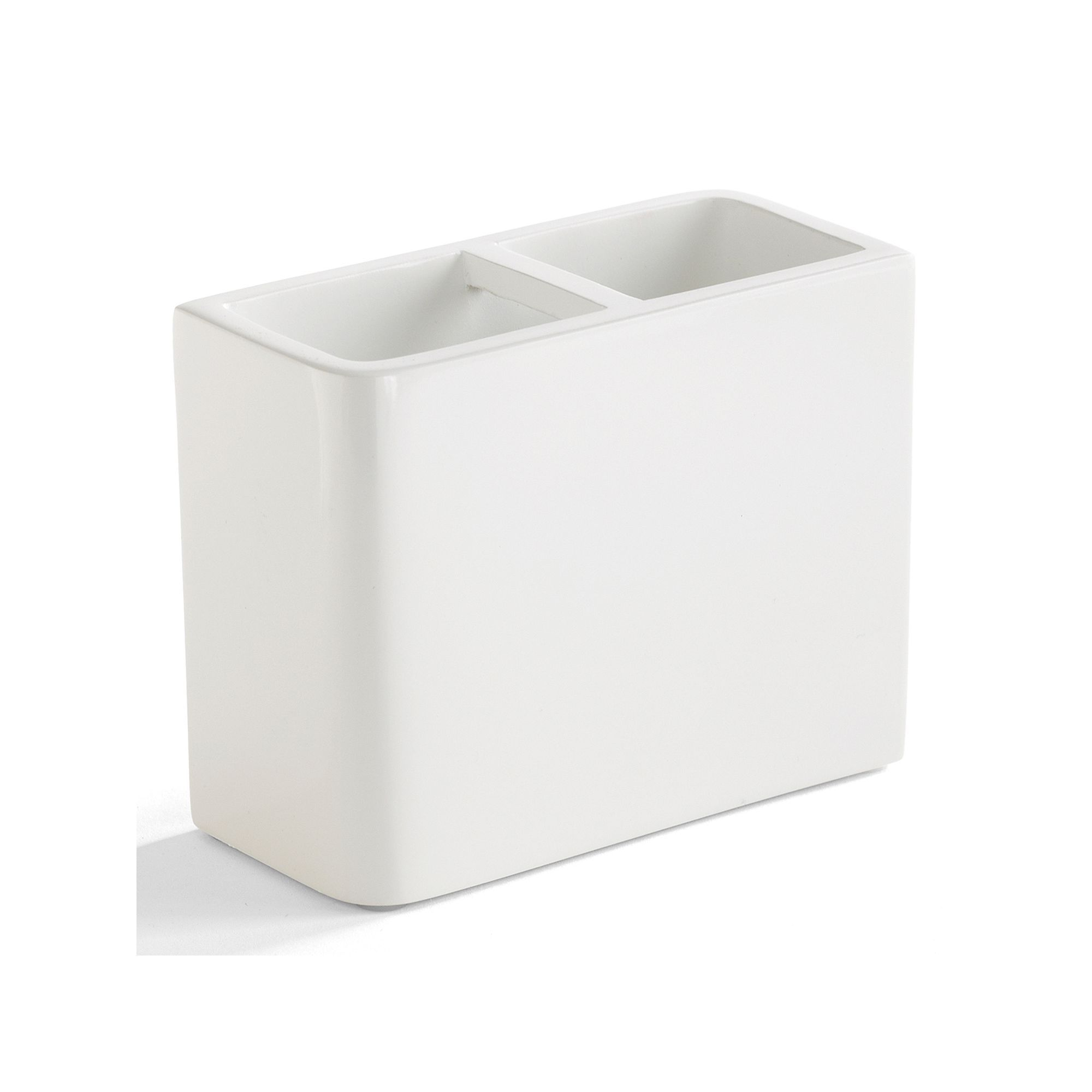 Kassatex Lacca Toothbrush Holder White Kassatex Lacca