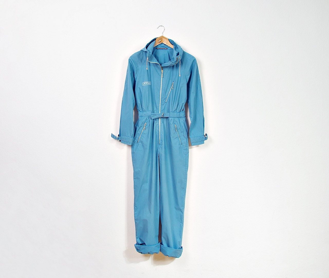 SALE - 70s PROTOTYPE Design Eliza Coveralls with Hoodie / Stellar Astronaut / Made in Norway / Size S by Only1Copy on Etsy