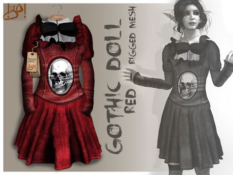 Second Life Marketplace - !gO! Gothic Doll - Red - | SL