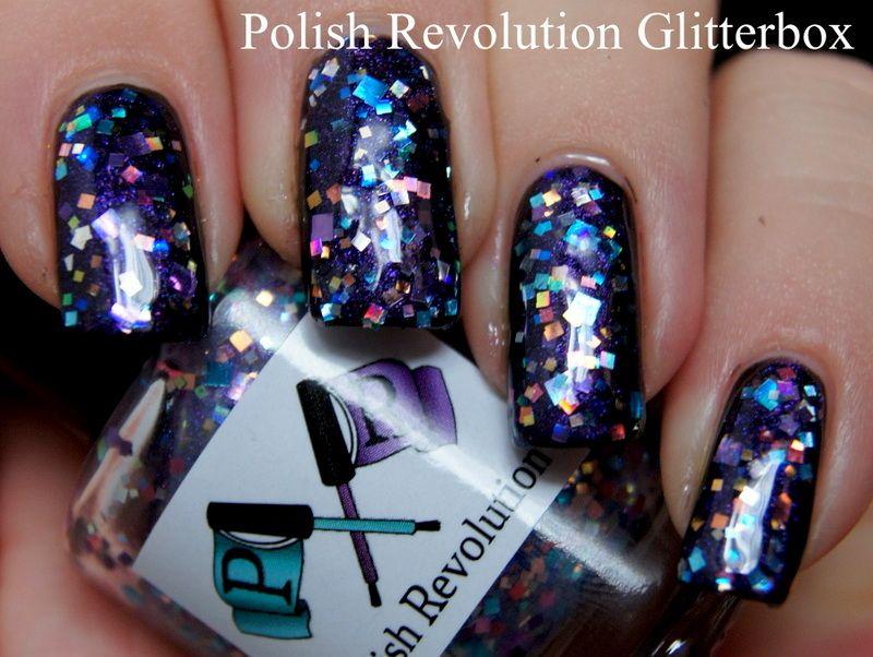 Polish Revolution Glitterbox over purple