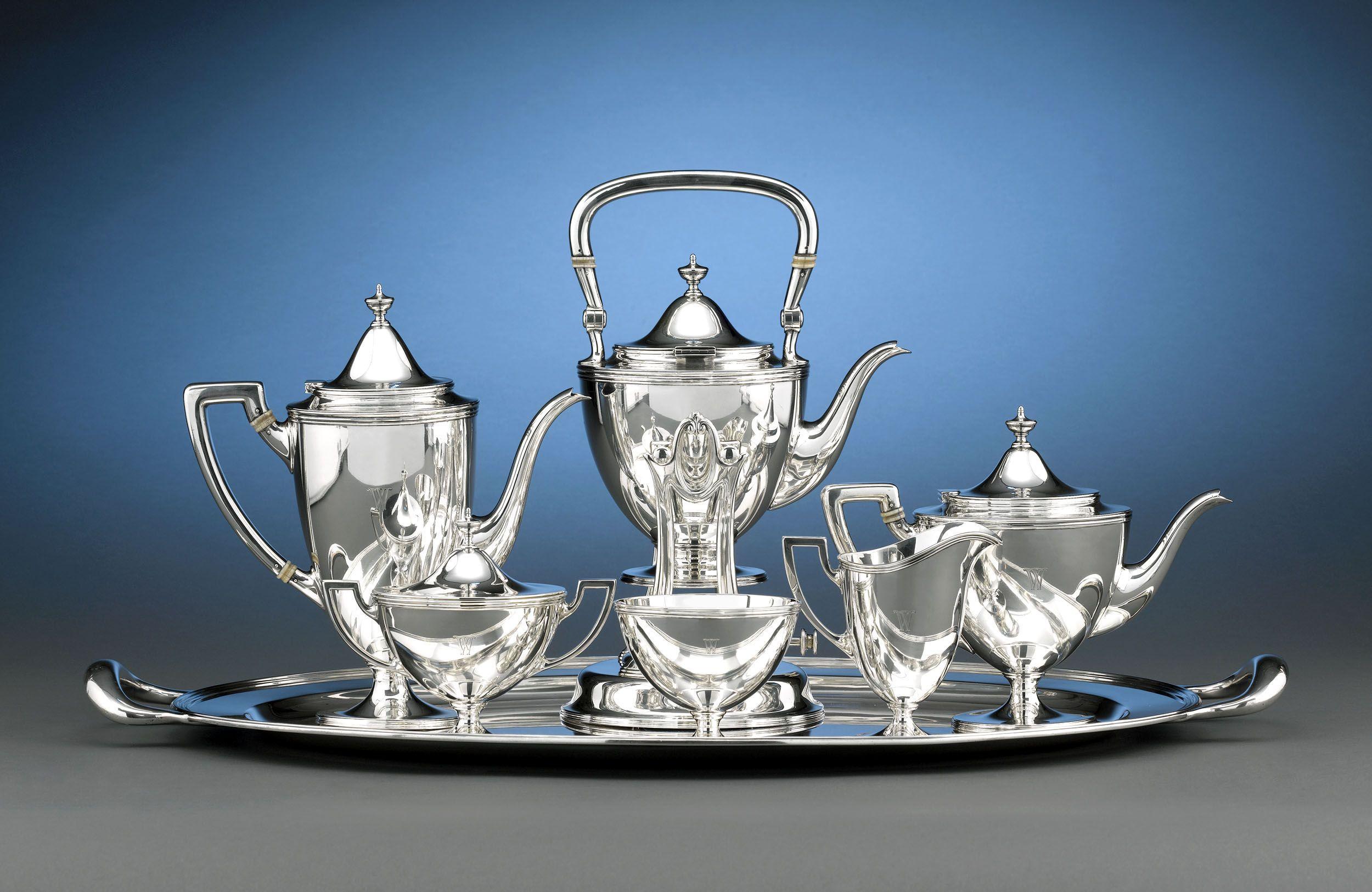 Antique tiffany silver antique silver tea set tiffany