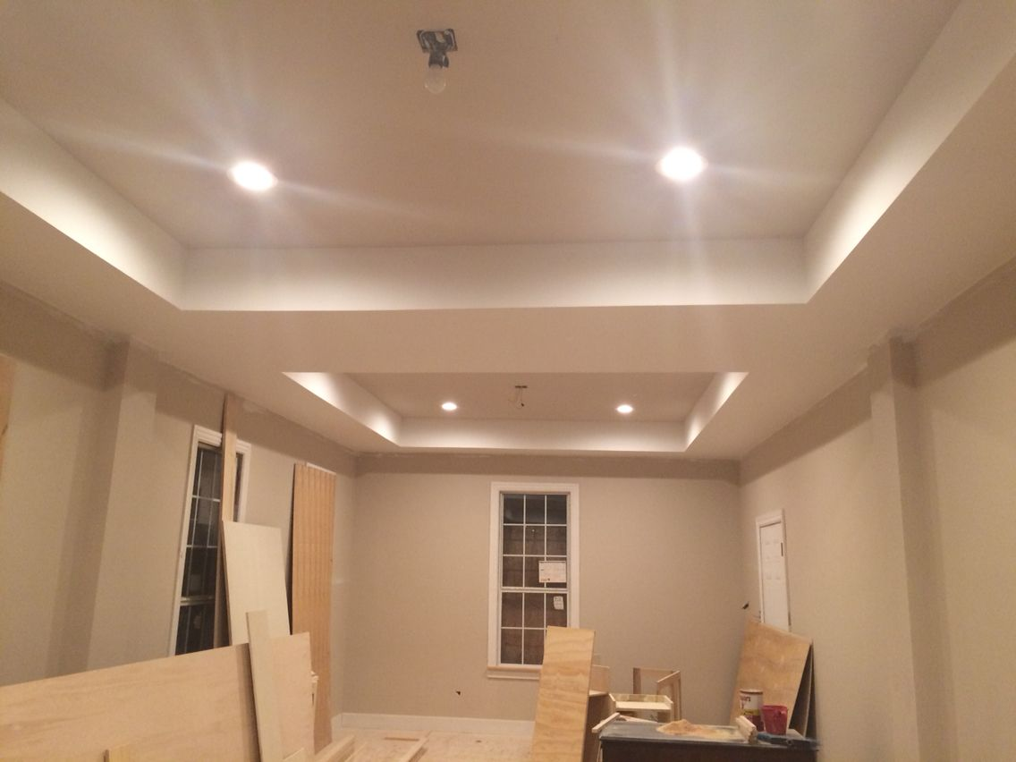 Basket beige sherwin williams - Tray Ceiling With Simplify Beige From Sherwin Williams