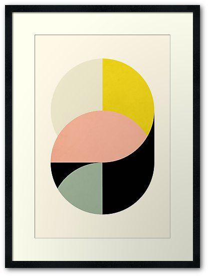Abstrakte Kreise Gerahmtes Wandbild Von Metron Geometrische Formen Kunst Abstrakt Illustration Design