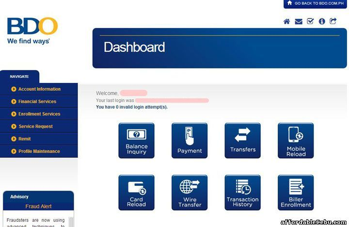 How To Monitor Your Bank Statement In Bdo Banco De Oro Online