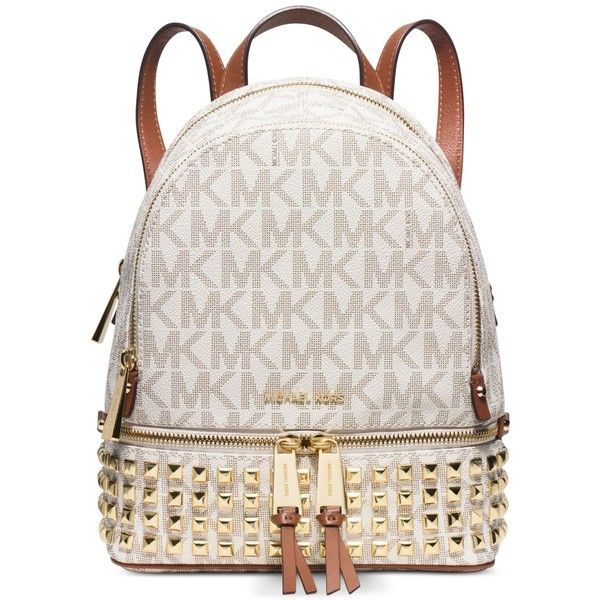 5af0d59914309b ... coupon code for michael michael kors rhea zip extra small studded  backpack 246 liked on polyvore