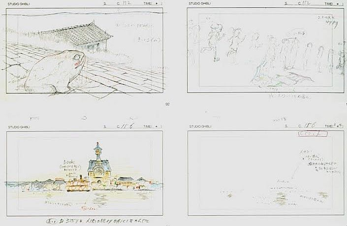 Film: Spirited Away (千と千尋の神隠し) ===== Layout Design - Scene: The Mysterious Waters ===== Hayao Miyazaki