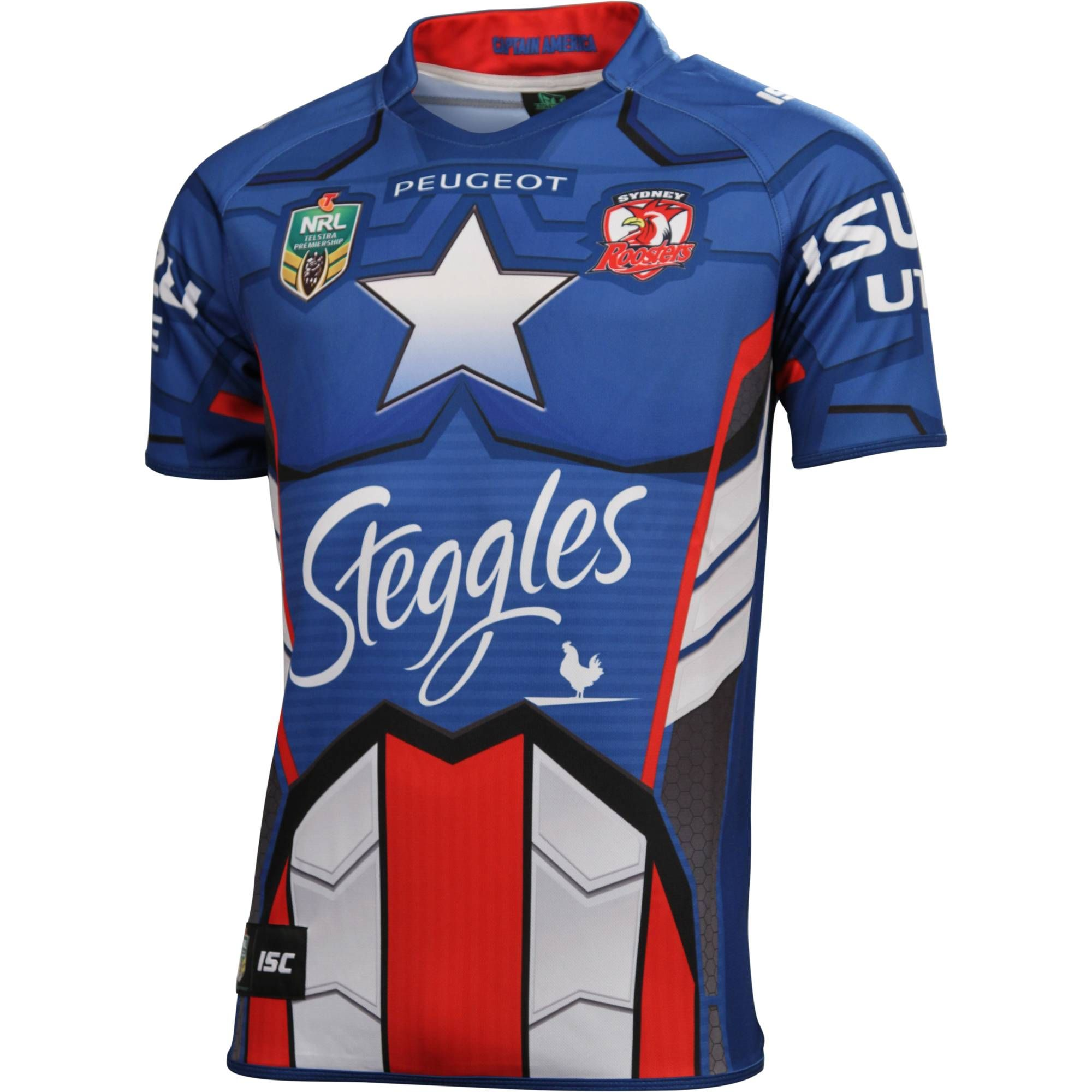 Sydney Roosters 2014 Men s Captain America Jersey - NRL Megastore ... cb7575ee9