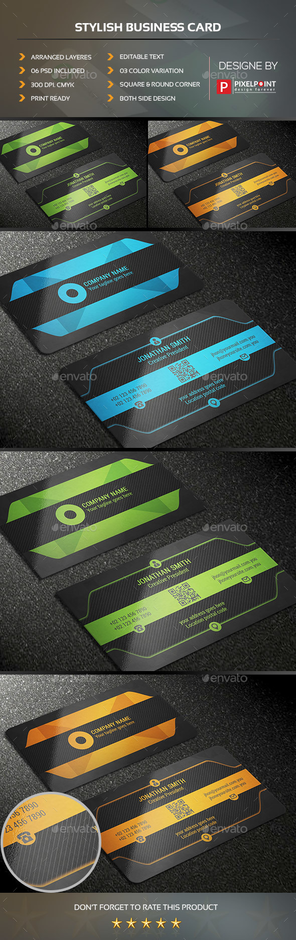Stylish Business Card Stylish Business Cards Business Card Black Business Cards