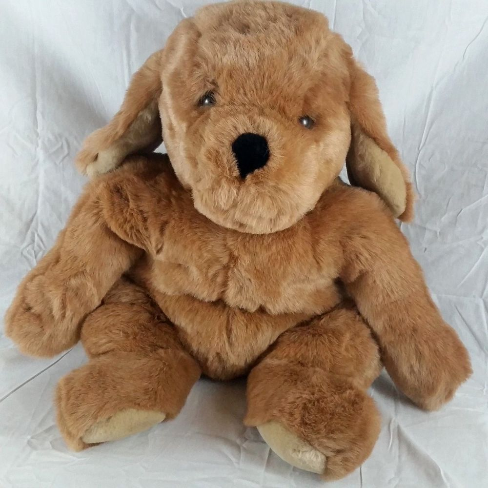 Mervyns Floppy Friends Brown Puppy Dog Plush Large Stuffed