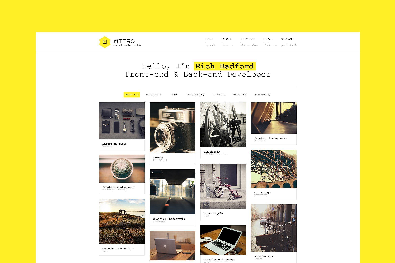 Mitro Minimal Html Template Simple Code Optimized Amp Portfolio Web Design Template Site Portfolio Templates