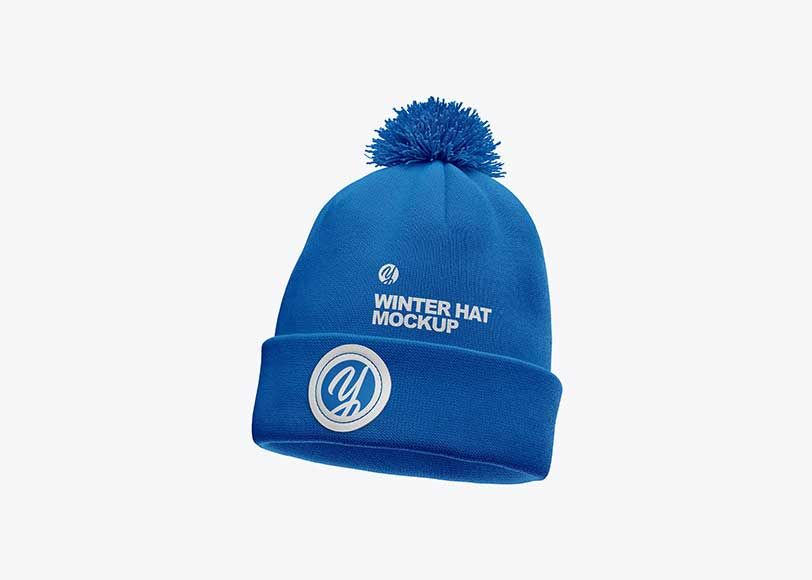 Download Now Showcase Your Logo Designs In A More Professional Way Using These Psd Blue Winter Hat Mockup Templates Show Your Clients Ho Mockup Winter Hats Logo Design