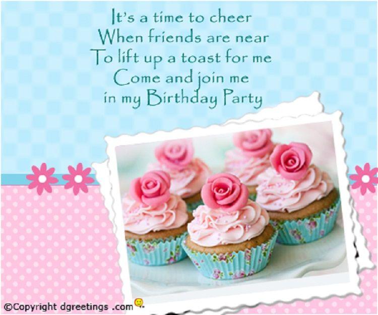 Pink Birthday Invitation On Whatsapp