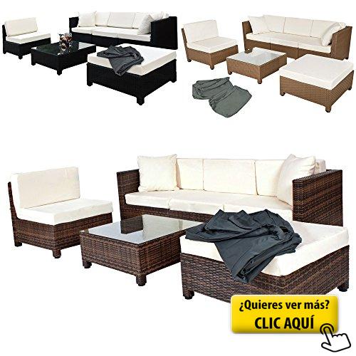 TecTake Conjunto muebles de Jardín en Poly Ratán... #sofa #exterior ...