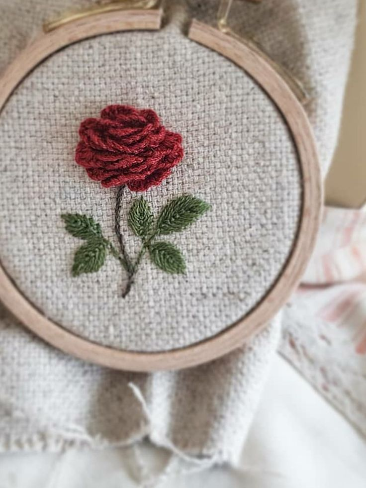 Plaster mesh for the rose blossom, I believe? Very good service. Embroider ... #flowerfabric
