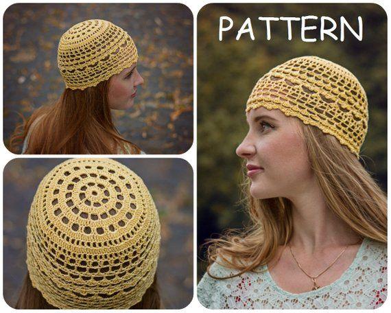 935e29f7 Summer Crochet Beanie Pattern - DIY Crochet Hat For Women - Womens Hat  Pattern - DIY Lace Crochet Ha