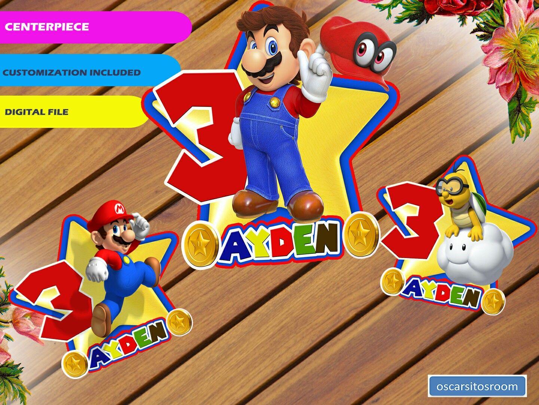 Mario bross centerpieces mario mario birthday mario party