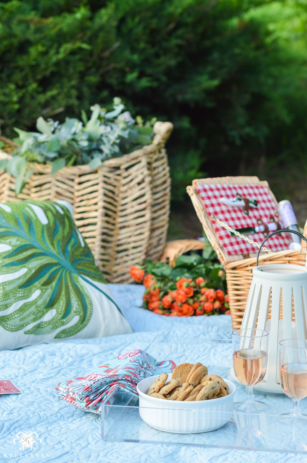 Picnic Decor Picnic And Tailgate Ideas And Setup Trays With Finger Food