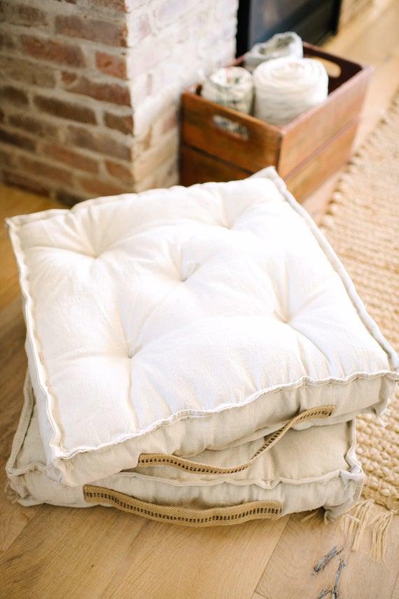 Farmhouse Floor Cushion Bench Cushion Chair Cushion