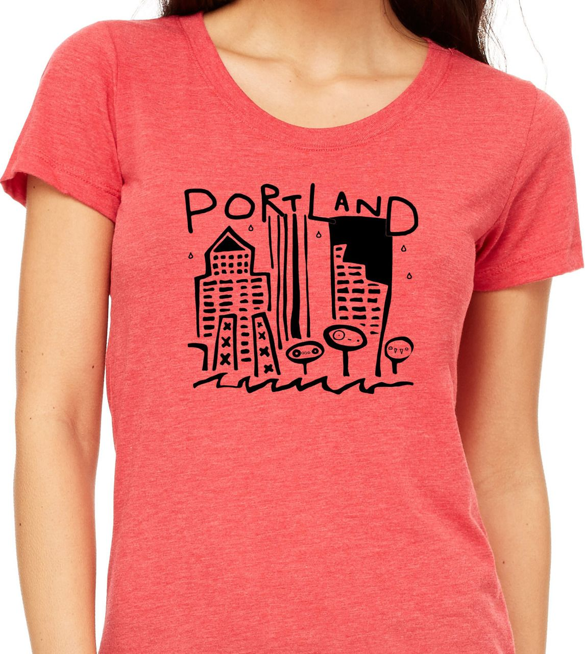 Portland Womens Triblend Tee (With images) Women