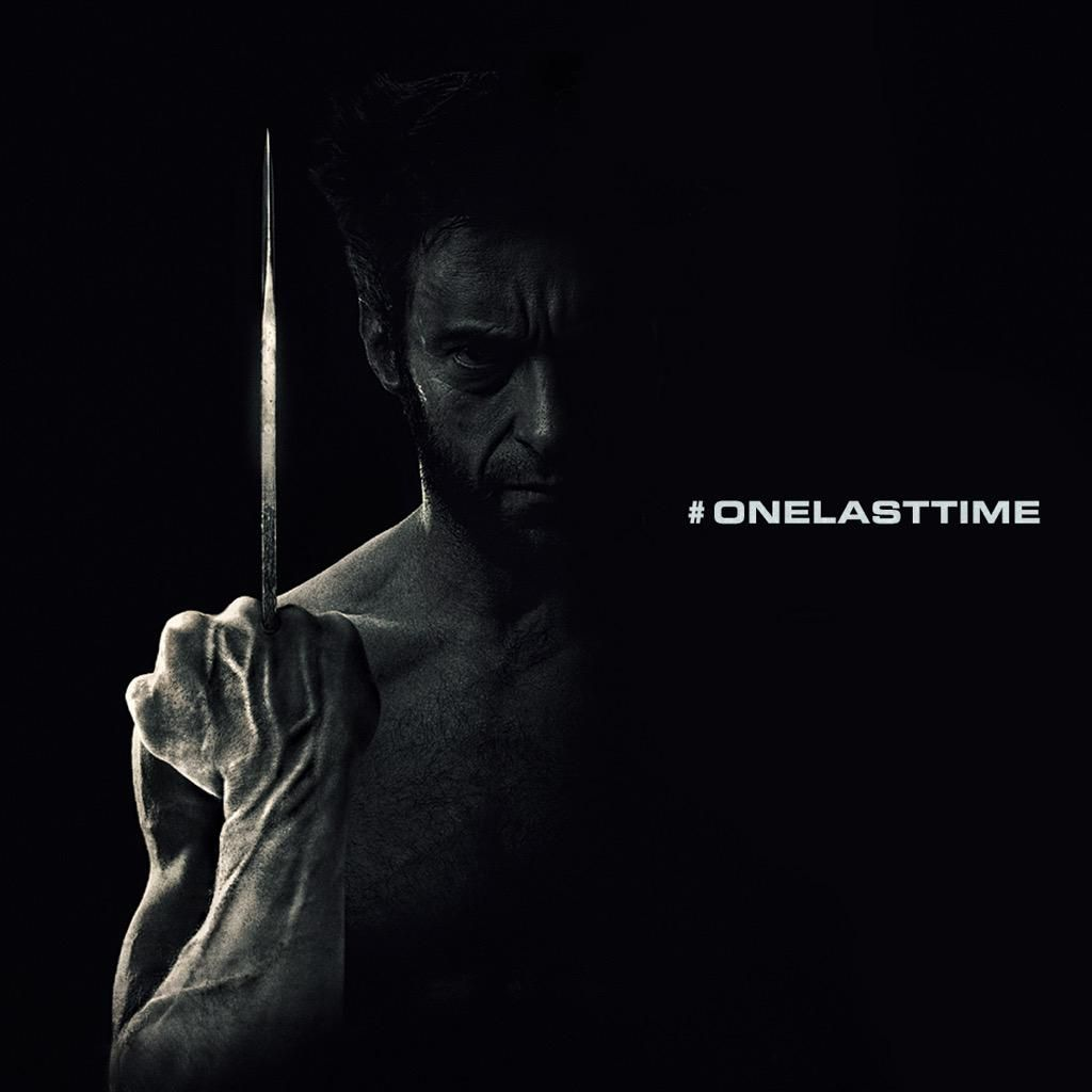 Teaser poster for Hugh Jackman's sequel to The Wolverine. He's also requested in 50 words or less what you'd like to see in his next performance. #OneLastTime