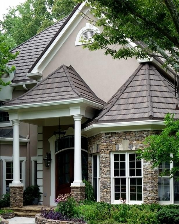 Roser Stone Wood Shake Stone Coated Steel Roof 1 By Roser Usa Metal Roof Wood Shakes Metal Shake Roof