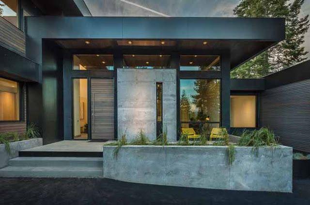 Casas Minimalistas y Modernas accesos fachadas Pinterest Casa - fachadas contemporaneas