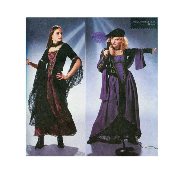 MEDIEVAL CORSET DRESS Pattern Renaissance Bar Wench Costumes ...