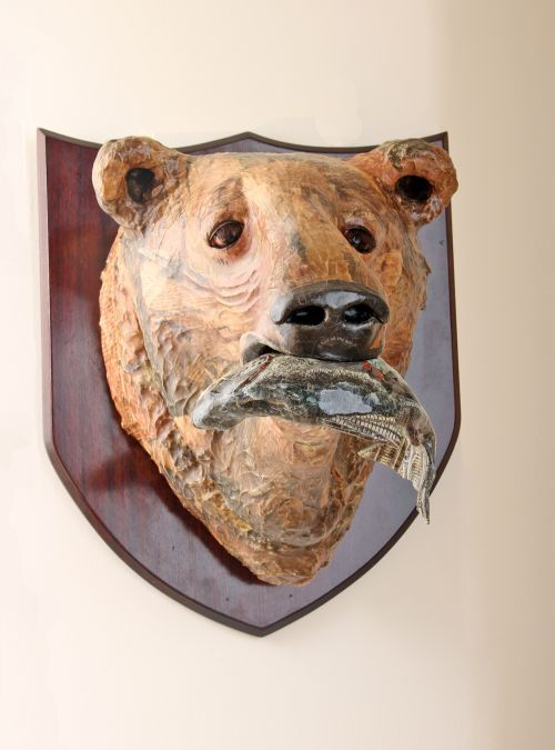 papier mache mounted heads masks wall mounted busts of animals sculpture by sculptor david. Black Bedroom Furniture Sets. Home Design Ideas