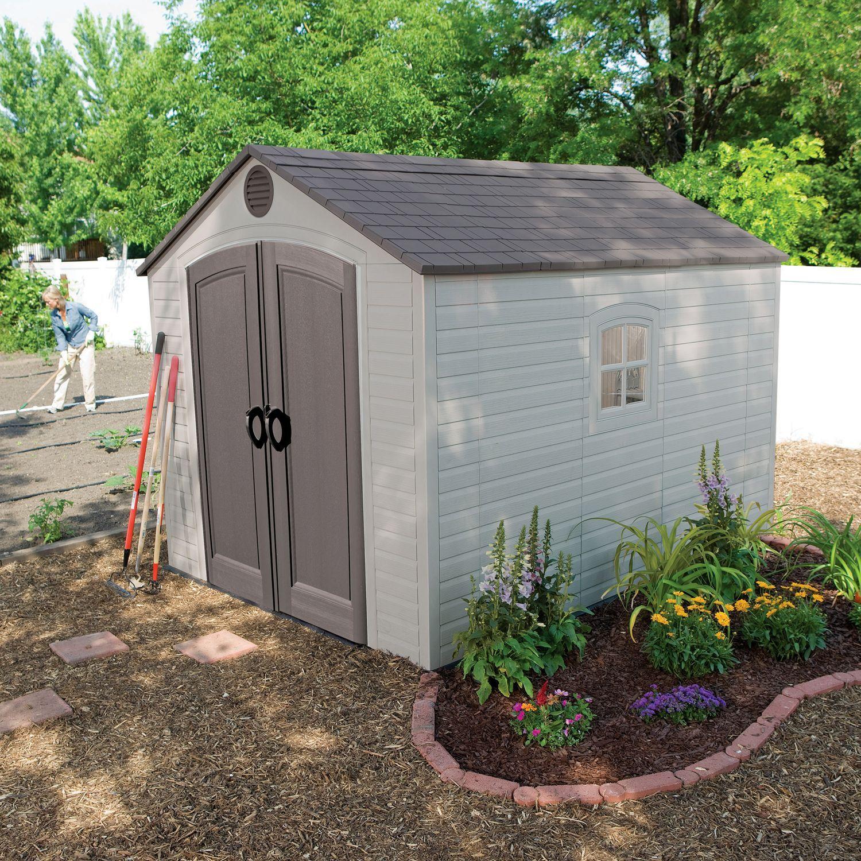 Lifetime 8 X 10 Outdoor Storage Shed Sam S Club Outdoor Storage Sheds Outdoor Sheds Building A Shed