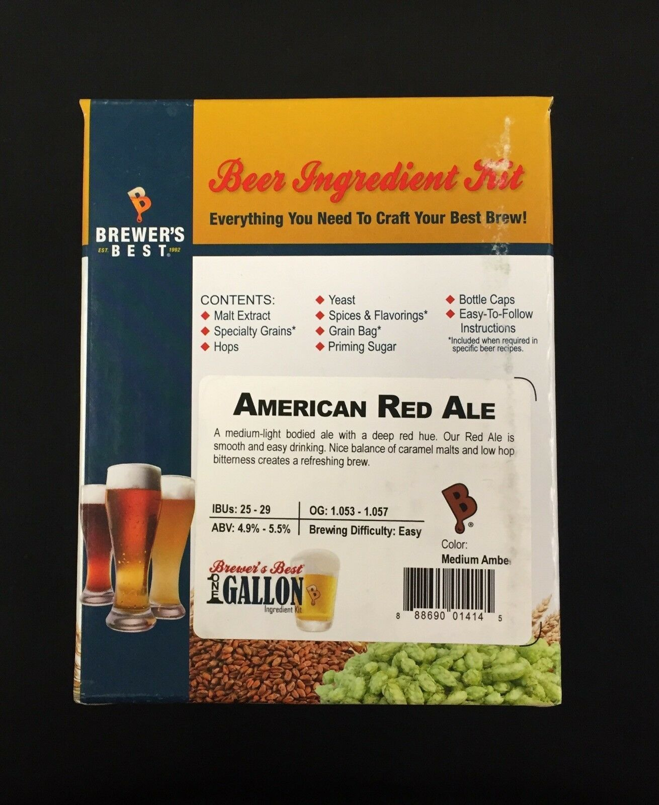 AMERICAN RED ALE Beer Kit Brewers Best One Gallon Home Brew