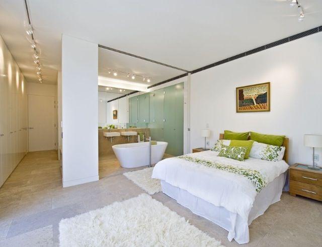 Open concept master bed/bath | Master bath | Pinterest