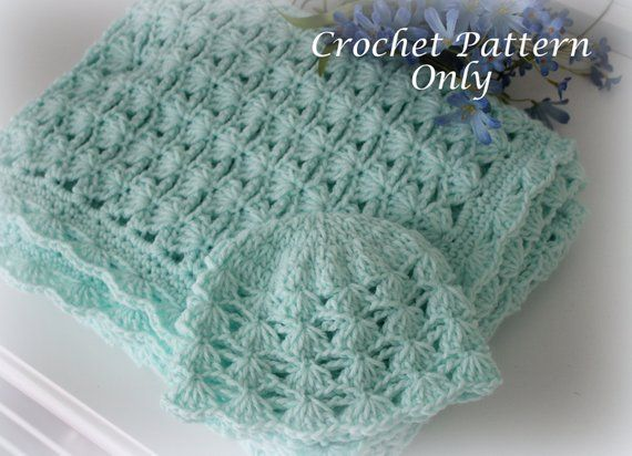 d9bce64d0 Shells and Chains Baby Blanket and Hat