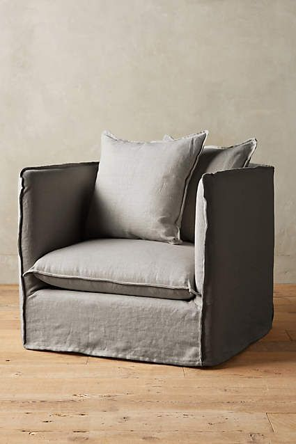 belgian linen carlier slipcover armchair anthropologie com chun