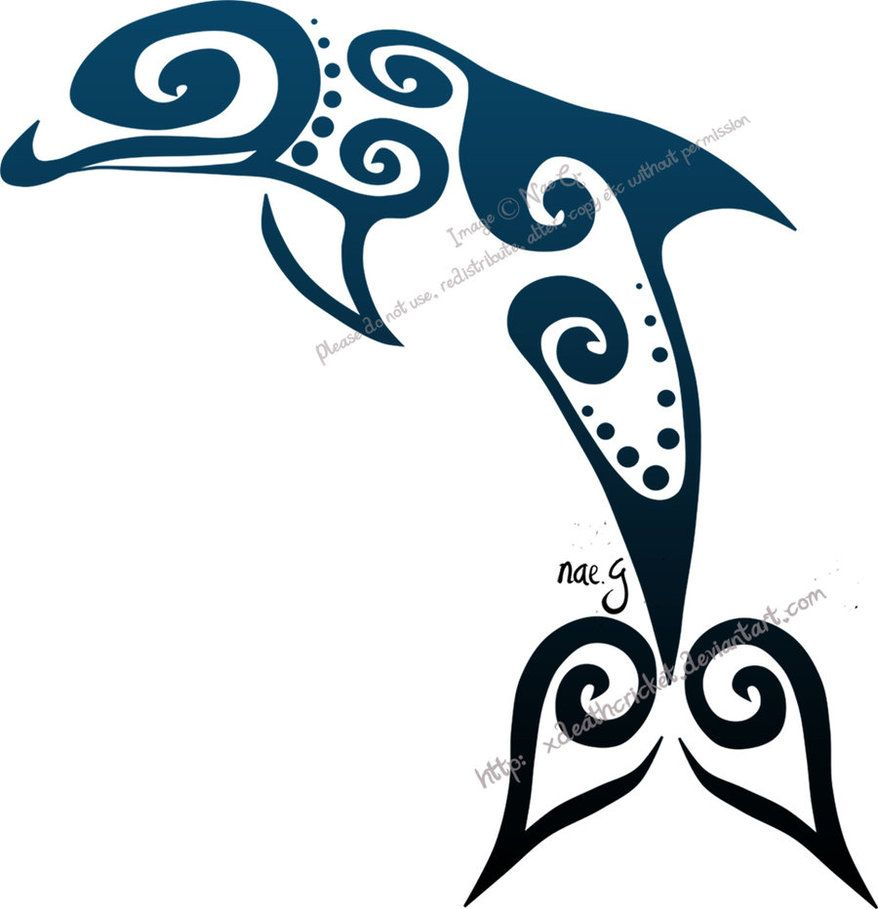 Pics photos dolphin tattoo design tattoos art and designs - Dolphin Wave Tattoo Perfect For My Life
