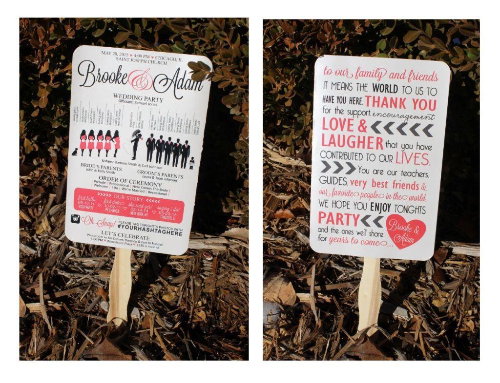 Diy wedding ideas silhouette wedding program h u j wedding
