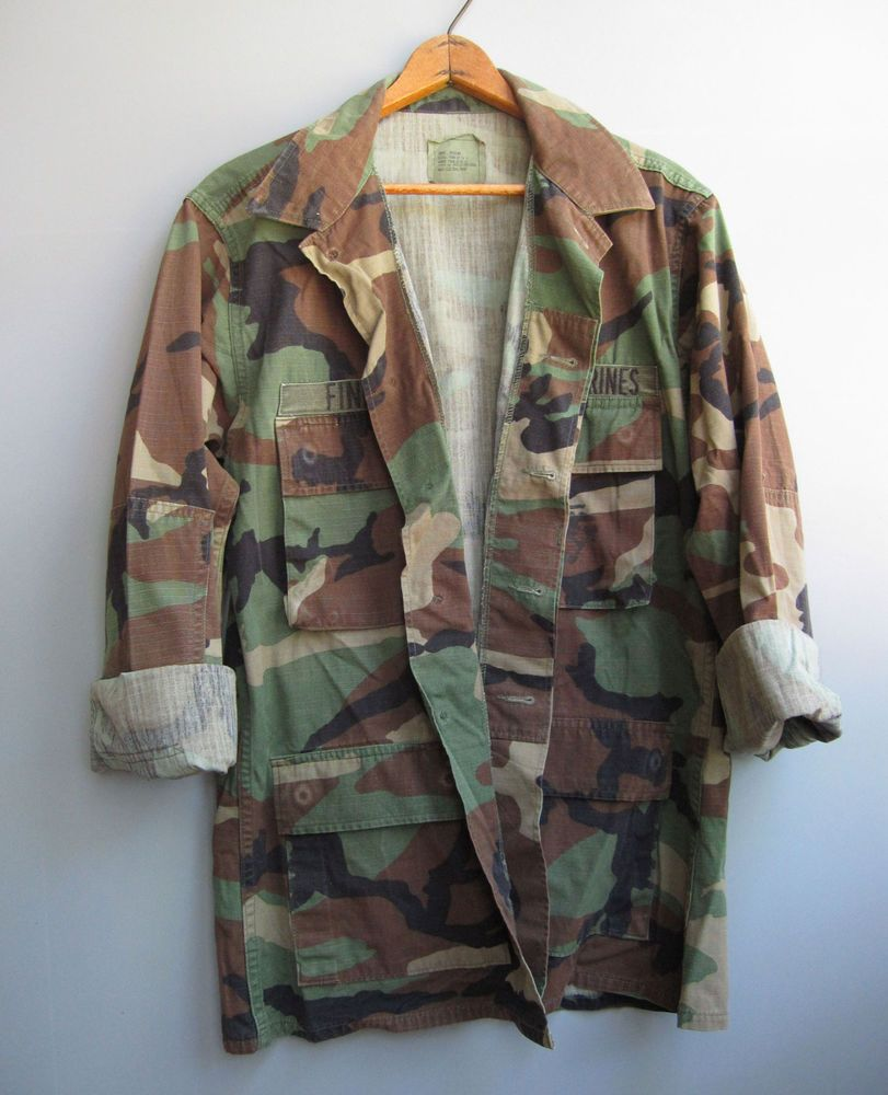 aa869e1ce6db4 Vintage 90s Camo Jacket Shirt Camouflage Green Military Bdu Woodland Small # camojacket #camouflage #armyjacket #military #camo #punk #grunge