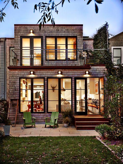 Best Modern Cedar Shingle Beach Houses Dark Window Trim 640 x 480