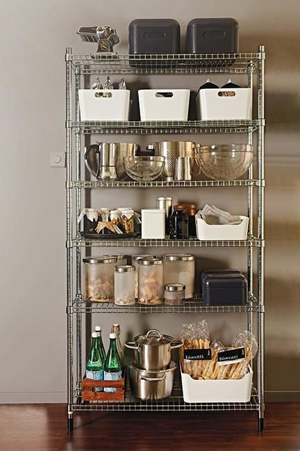 Simple Metal Shelving Unit For Any Overflow Probably Best Out Of